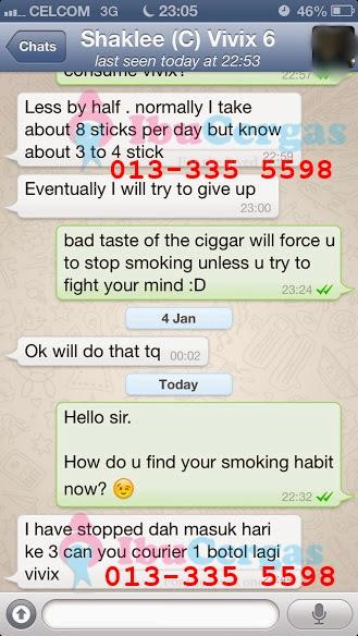 berhenti merokok dengan Shaklee vivix