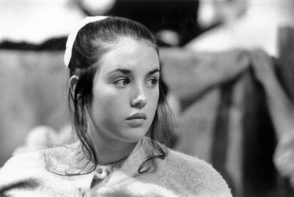 """Image of Isabelle Adjani as Agnes in the play """"L'ecole des femmes"""" by Moliere for tv on august 18, 1972, Photo © AGIP / Bridgeman Images"""