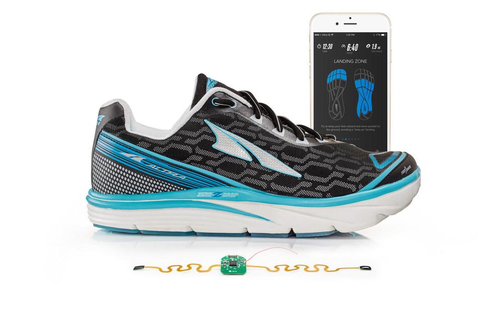 Altra Torin IQ har trycksensorer, accelerometrar och trådlöst uppkopplade microcontrollers inbyggt i varje sko.