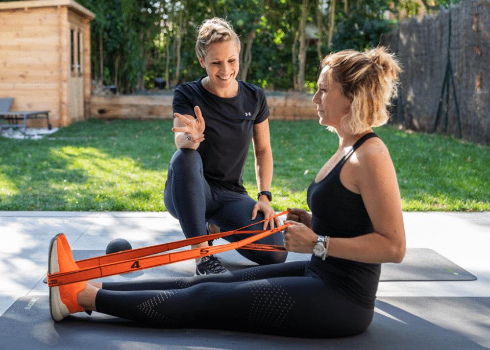 Une Personal Trainer du réseau Domicil'Gym