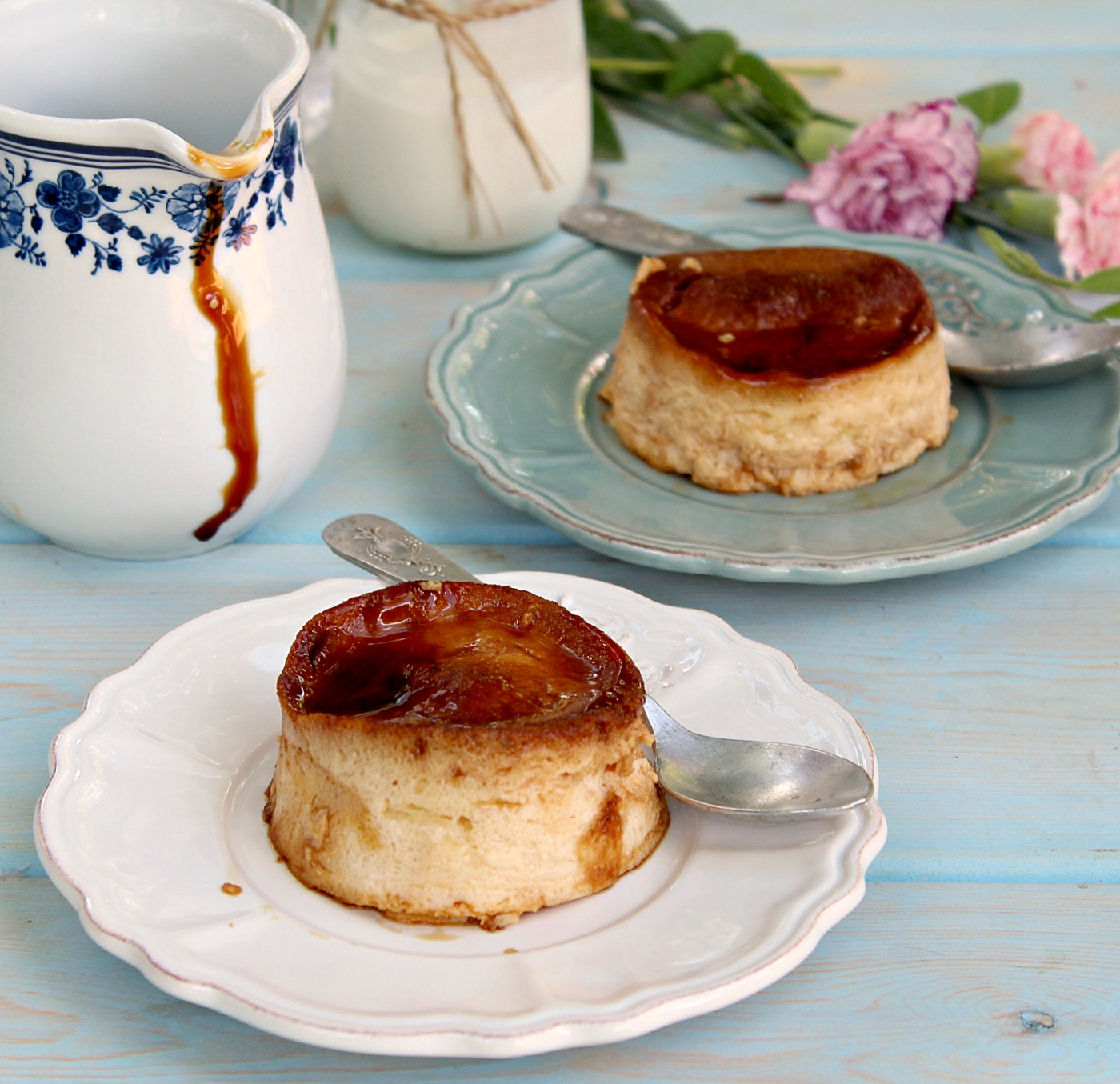 Butterscotch Cheesecake Flan - an easy, healthy and delicious dessert!