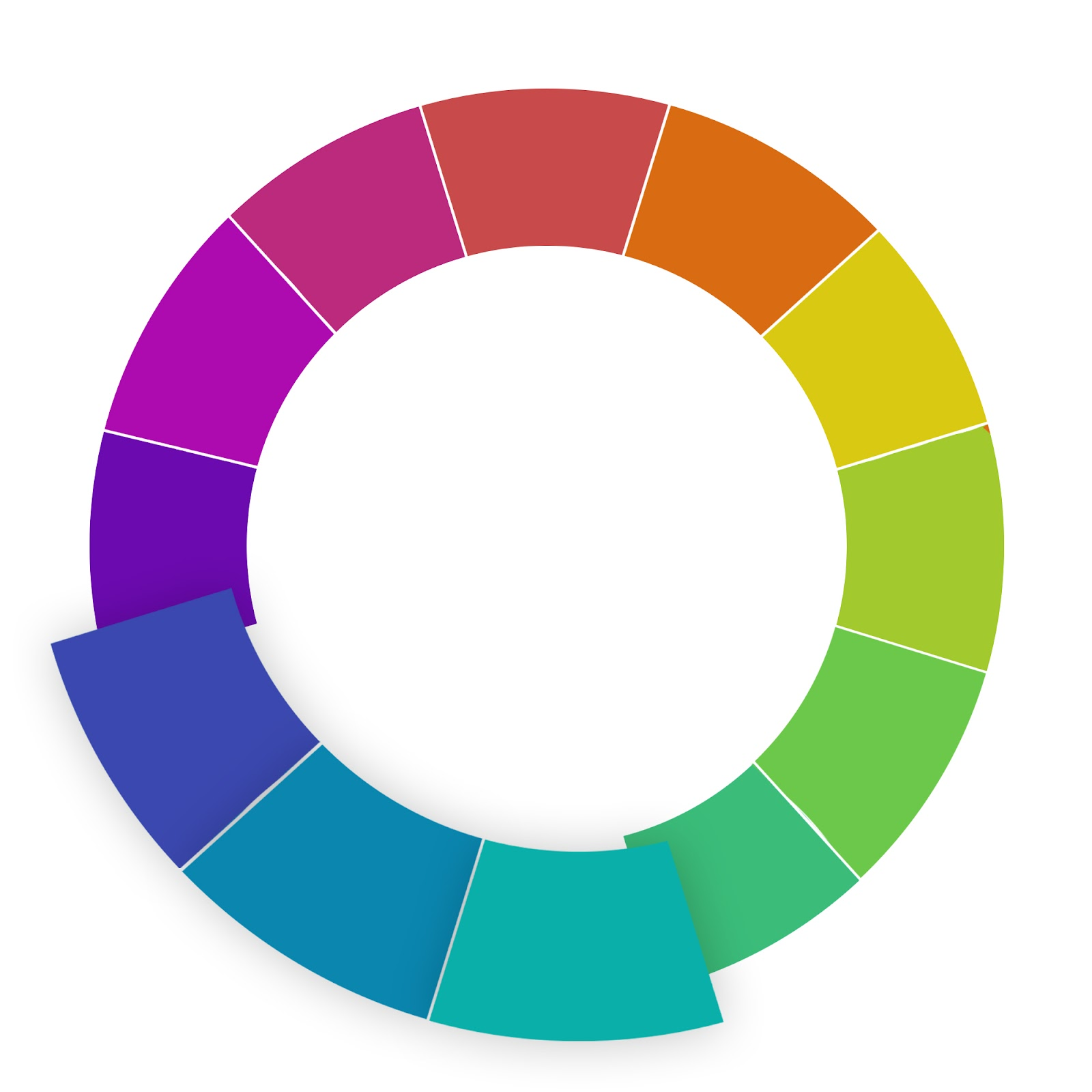 website color schemes analogous wheel