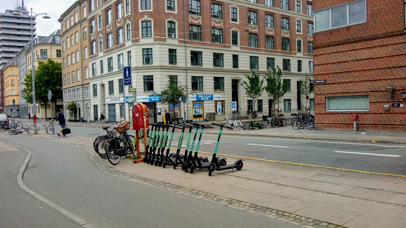 Parked autopeds on the streets