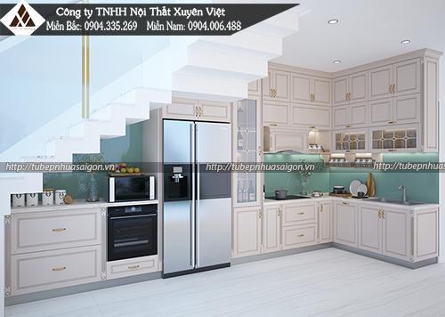 Mẫu tủ bếp đẹp bằng nhựa hình 4