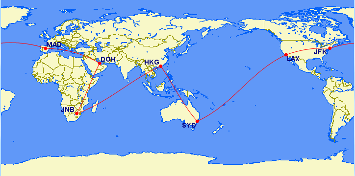 Qantas Round The World Points Booking Guide 1