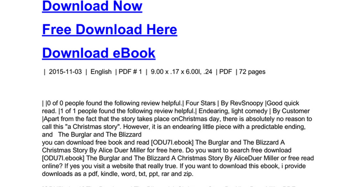 The burglar and the blizzard a christmas storyc google docs fandeluxe Ebook collections