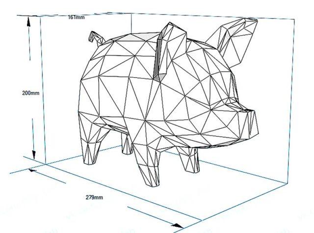 Свинья-копилка паперкрафт