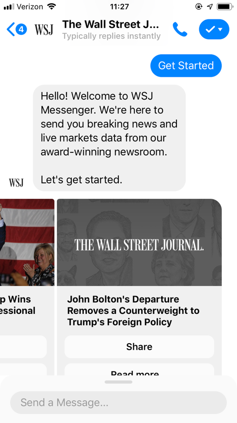 popular chatbots wall street journal bot