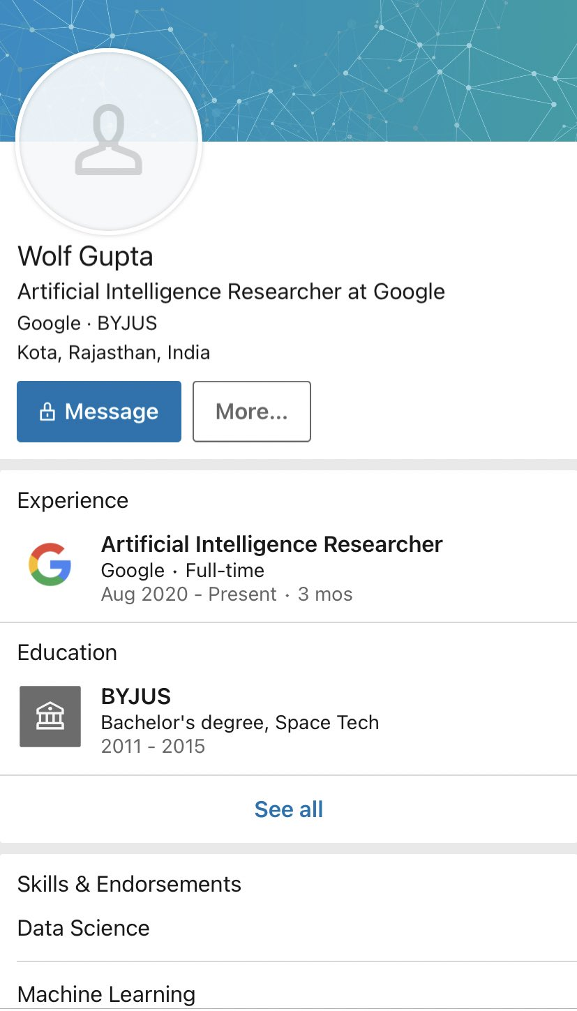 WhiteHatJr. Says Wolf Gupta Ad With 20 Crore Job Package at Google Was Fake to High Court Delhi, India 5
