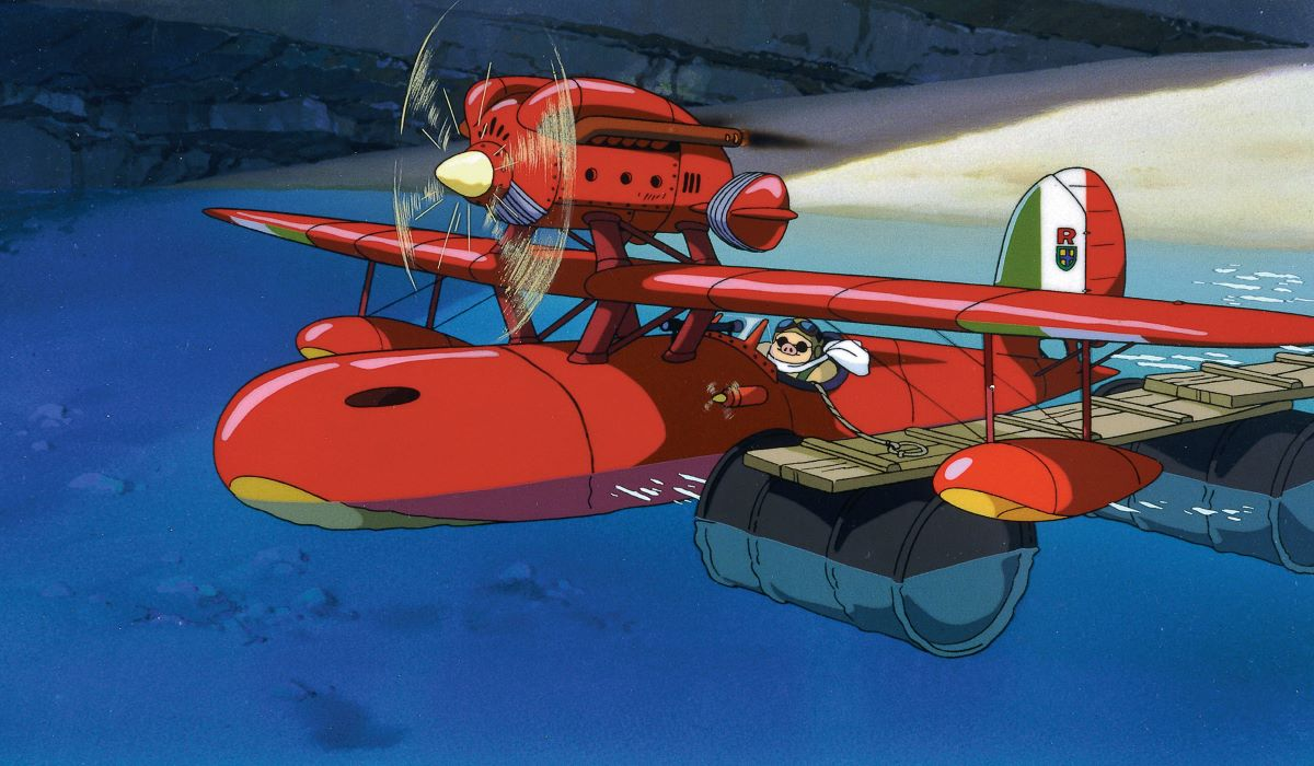 The airplane scene from Porco Rosso