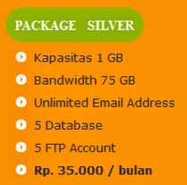 tarif paket hosting silver anekahosting.com