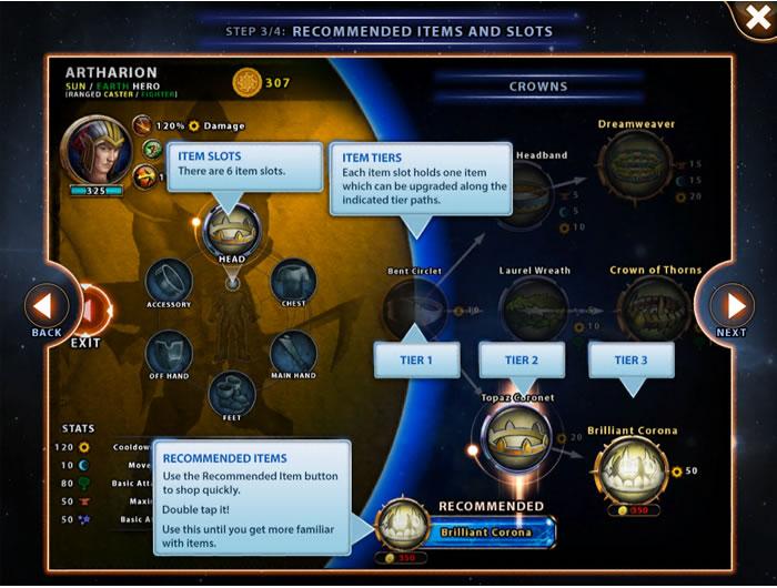Solstice Arena Item System