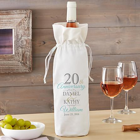 K'Mich Weddings - wedding planning - anniversary wine bag - personal creation