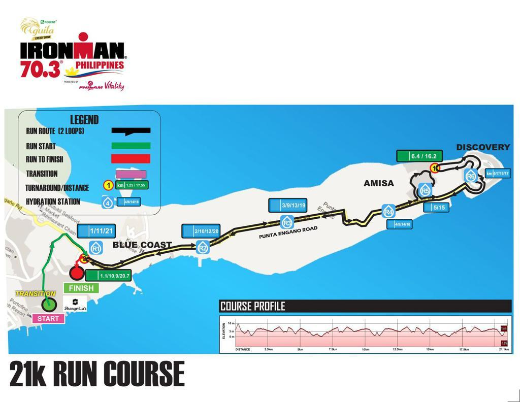 Run course for IM703 Cebu