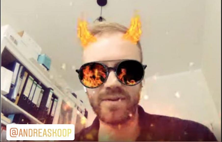Andreas Koop mit Snapcam Filter