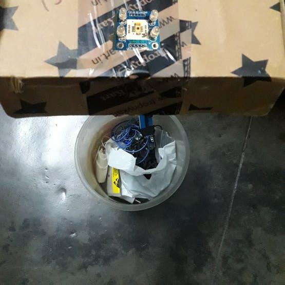 Placement of TCS sensor in bin
