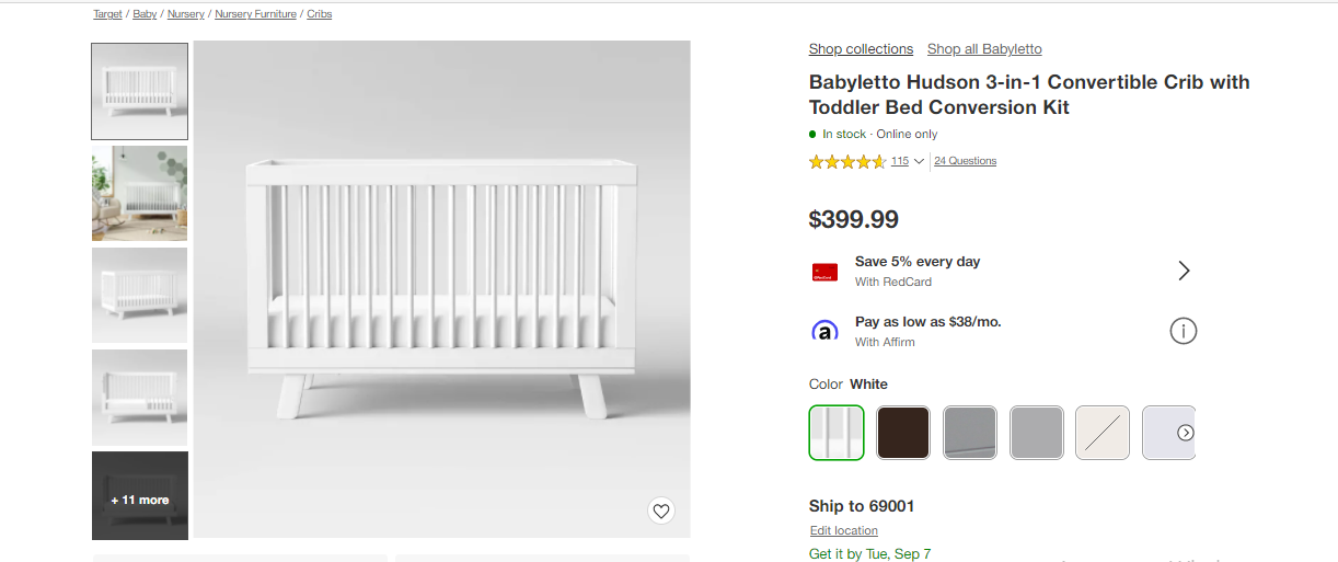 sustainable eco-friendly baby product among nursery items