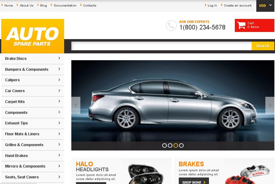 Auto Parts Responsive Shopify theme