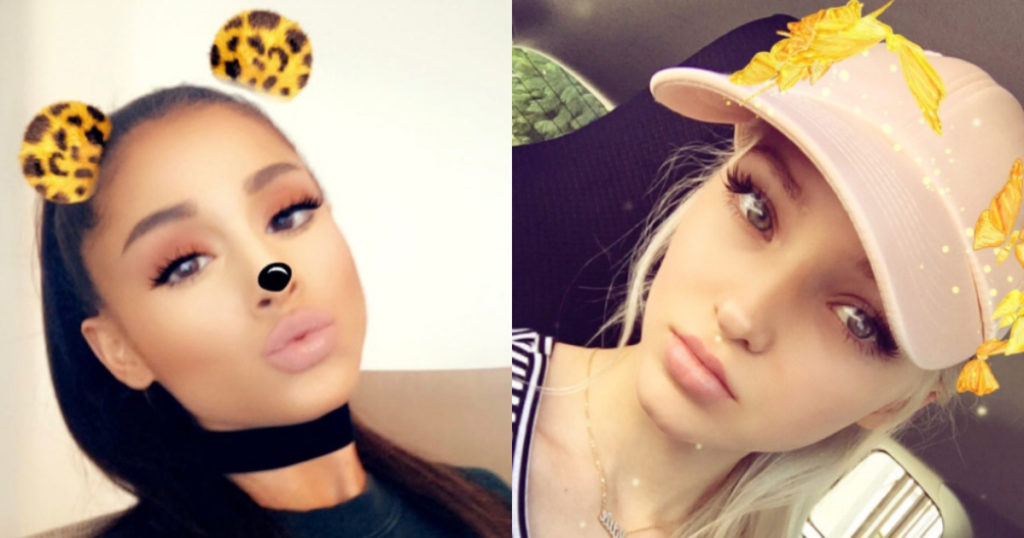 celebrity with filter