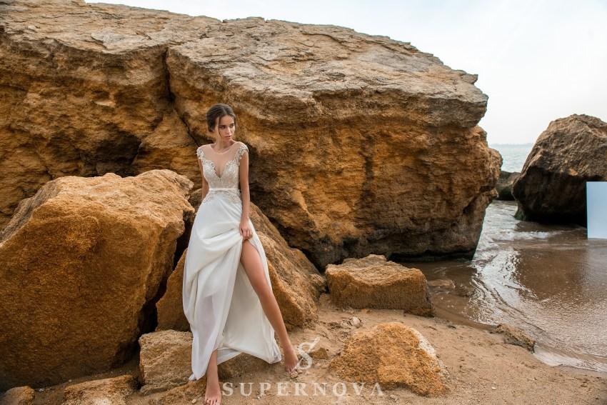 весільна сукня з мереживним верхом від Supernova оптом