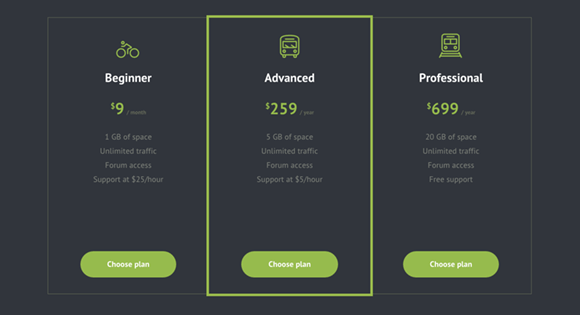 codrops pricing table