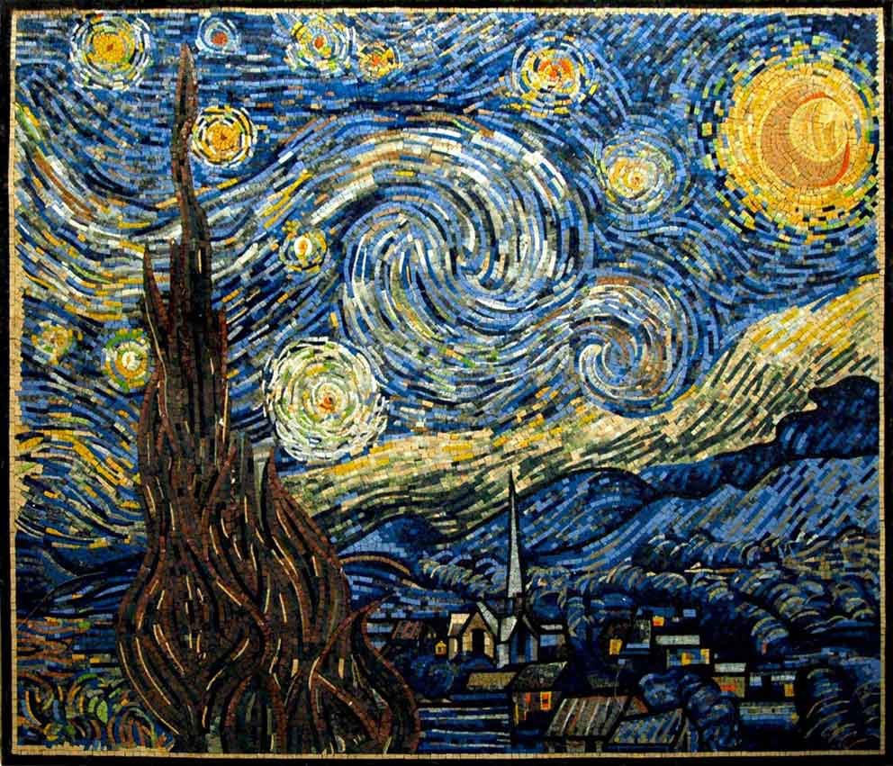 Starry Night by Vincent Van Gogh Mosaic Reproduction