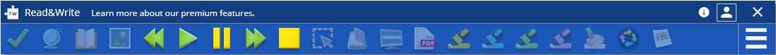Freemium toolbar