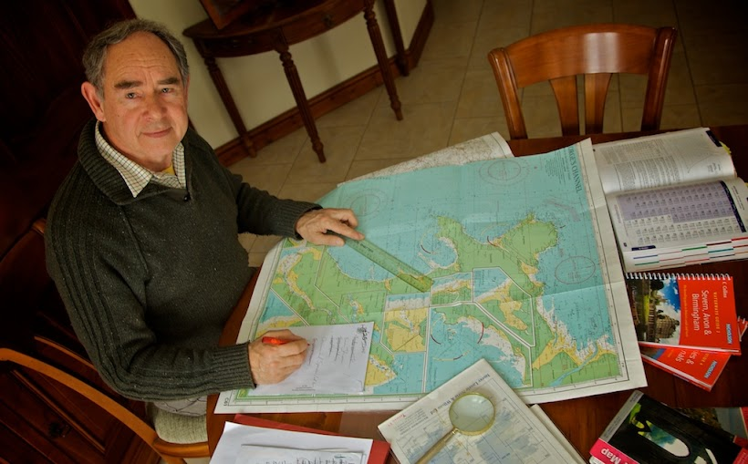 Arnold planning his route back in Shropshire