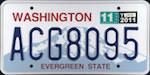 Image of the Washington state license.