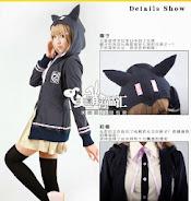 hitam, chiaku nanami, fleece, Hoodie, hoodie korea murah, korea, murah, warna, Pre Order, fashion korea, hoodie lucu