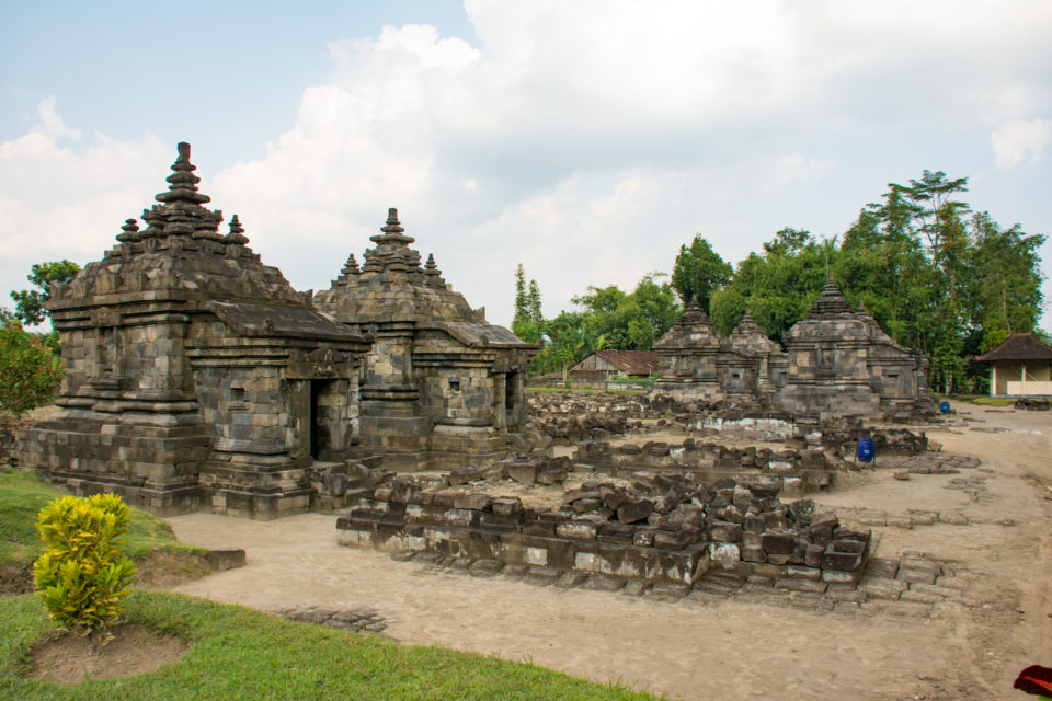 Candi Plaosan Lor main temple in the middle with the smaller shrines and stupas on the side. Photo Credit – Hema Saran