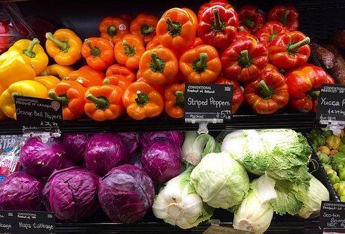 Produce, Grocery, Store, Shelf