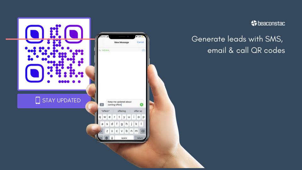 Generate leads with Beaconstac's QR codes