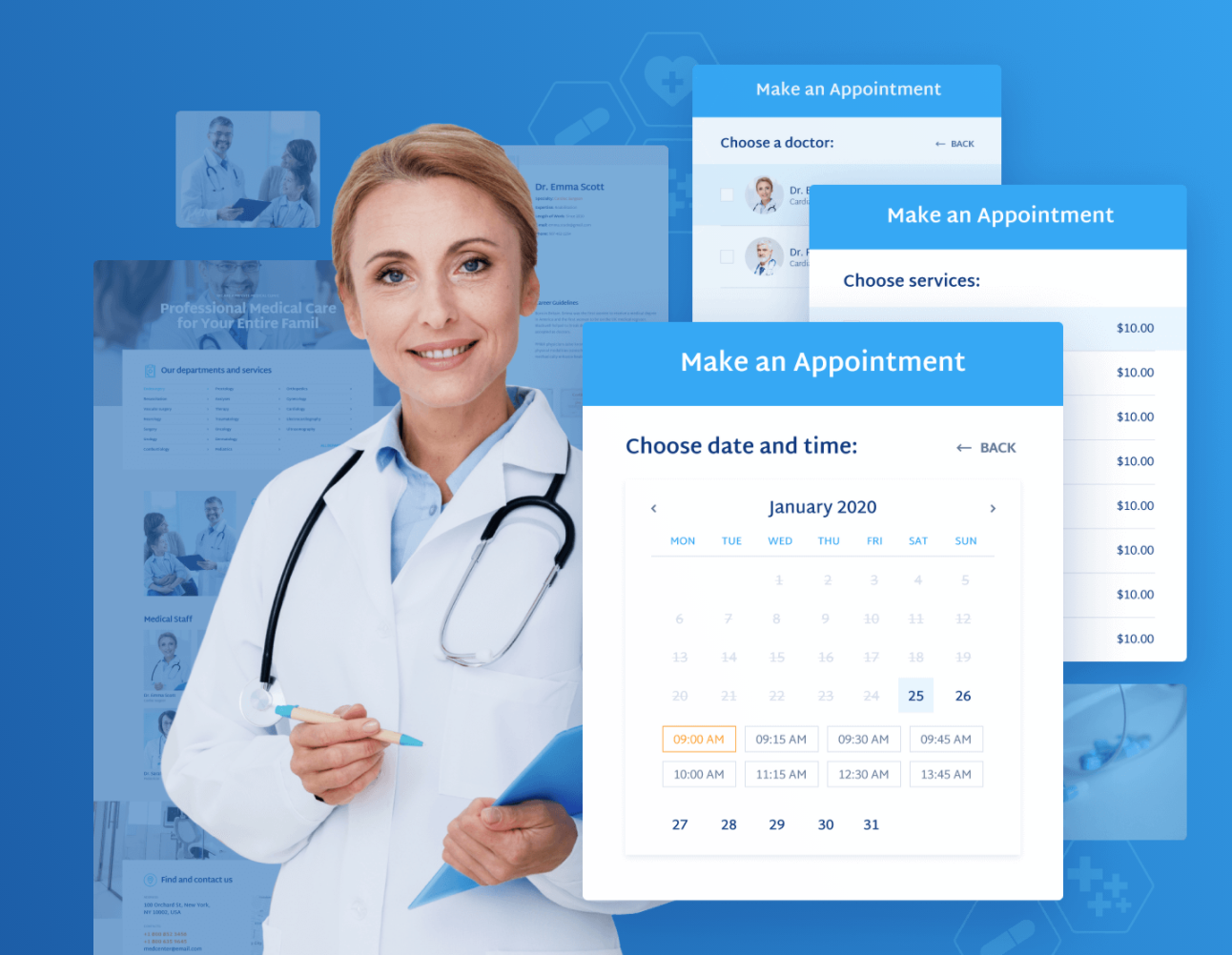 Doctor appointment WordPress template