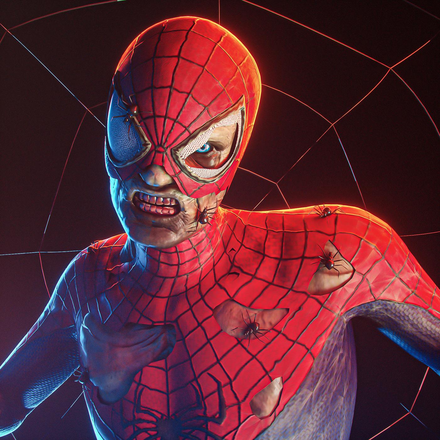 artwork comic comics Digital Art  fanart ILLUSTRATION  lighting portrait study SuperHero