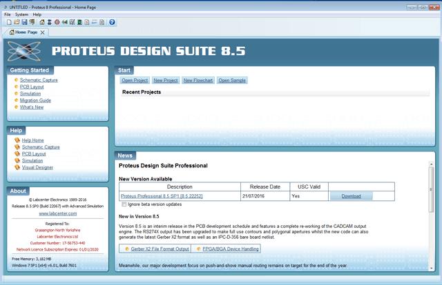 Phần mềm Proteus phiên bản 8.5 - Linh kiện điện tử Vietnic