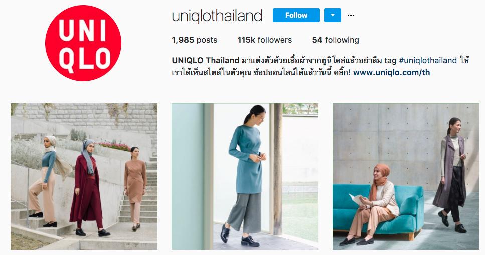 uniqlo タイ インスタグラム 運営
