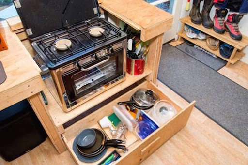 Building A Tiny House kitchen