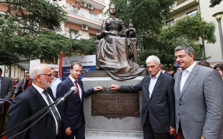 Αποτέλεσμα εικόνας για και ο μπουτάρης στα εγκαίνια του αγαλματος της βασιλισσας όλγας στη Θεσσαλονίκη