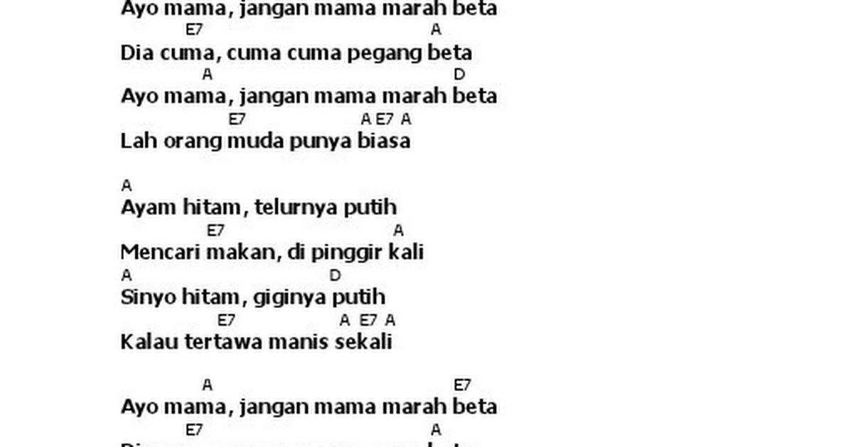 Lyric Chord Ayo Mama Indonesia Song Pdf Google Drive