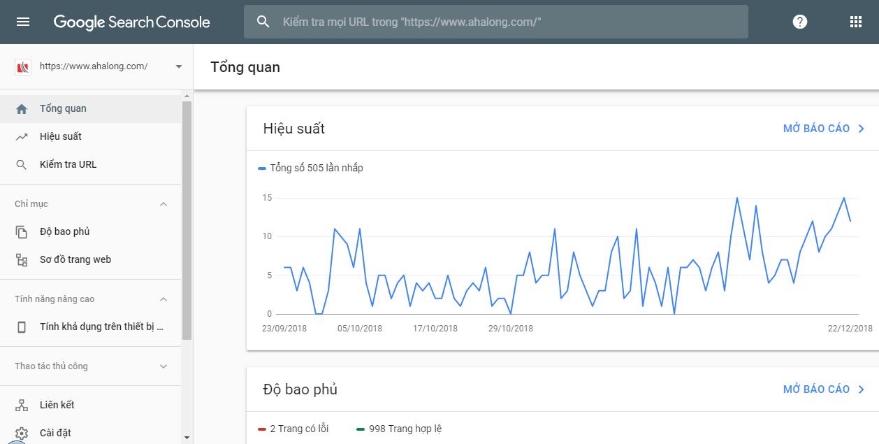 Phần mềm kiểm tra backlink Google Search Console