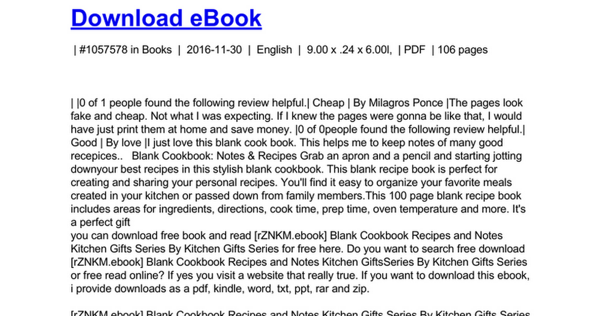 blank cookbook recipes notes cooking gifts series