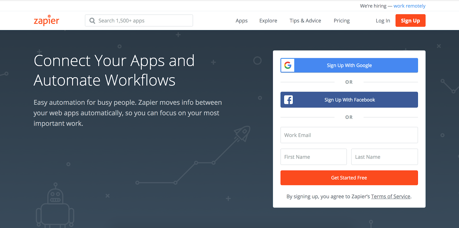 Top Marketing Tool Example #5 - Zapier | 16 Powerful Marketing Tools You Haven't Considered (But Probably Should)