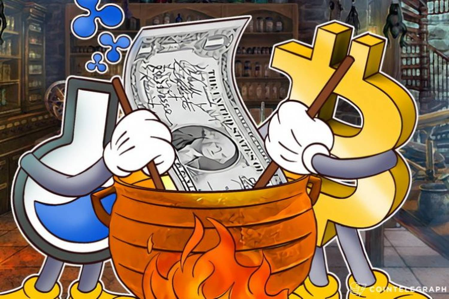 Bitcoin and Ripple Labs boil a dollar