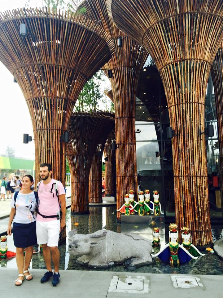 """Đây là không gian """"sen và nước"""" ở mặt tiền và xung quanh Vietnam Pavilion !!!"""