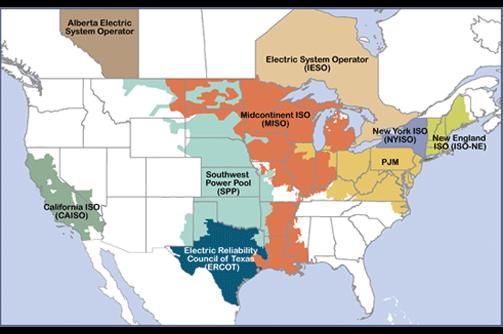 Map of RTOs