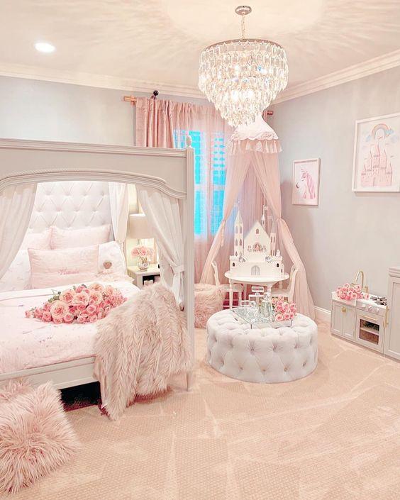 Chandelier for Your Little Princess's Bedroom
