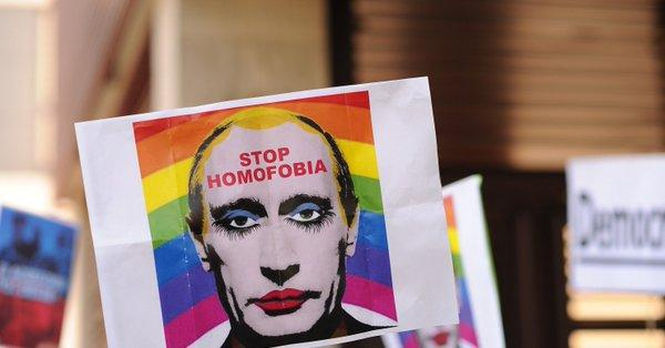 Photo published for It's now illegal in Russia to share an image of Putin as a gay clown