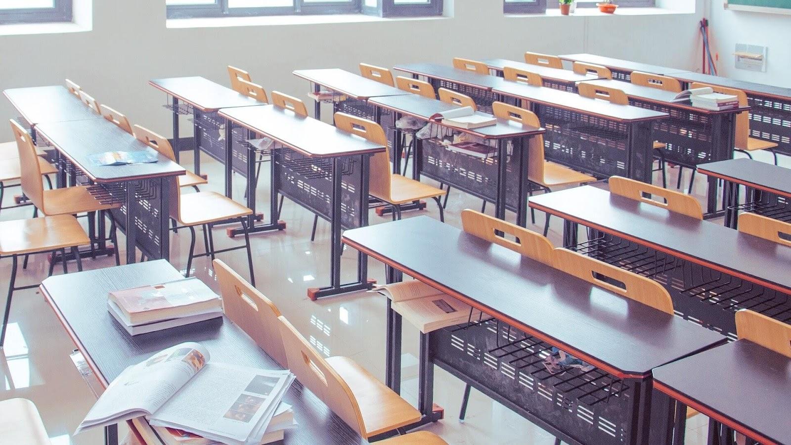 教室の風景。