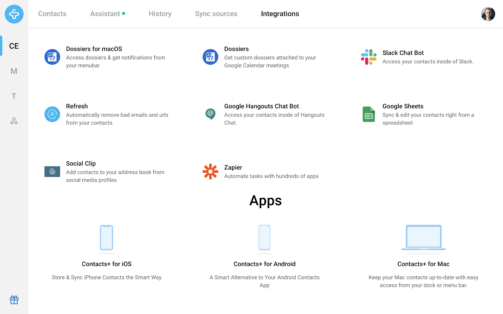 Contacts+ Integrations